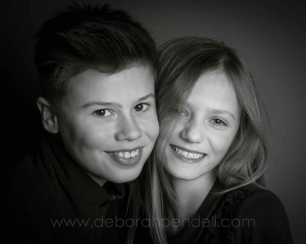 black and white portrait photography of children