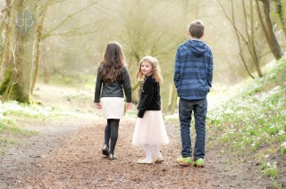 Family photo shoot at Hedingham Castle, Essex